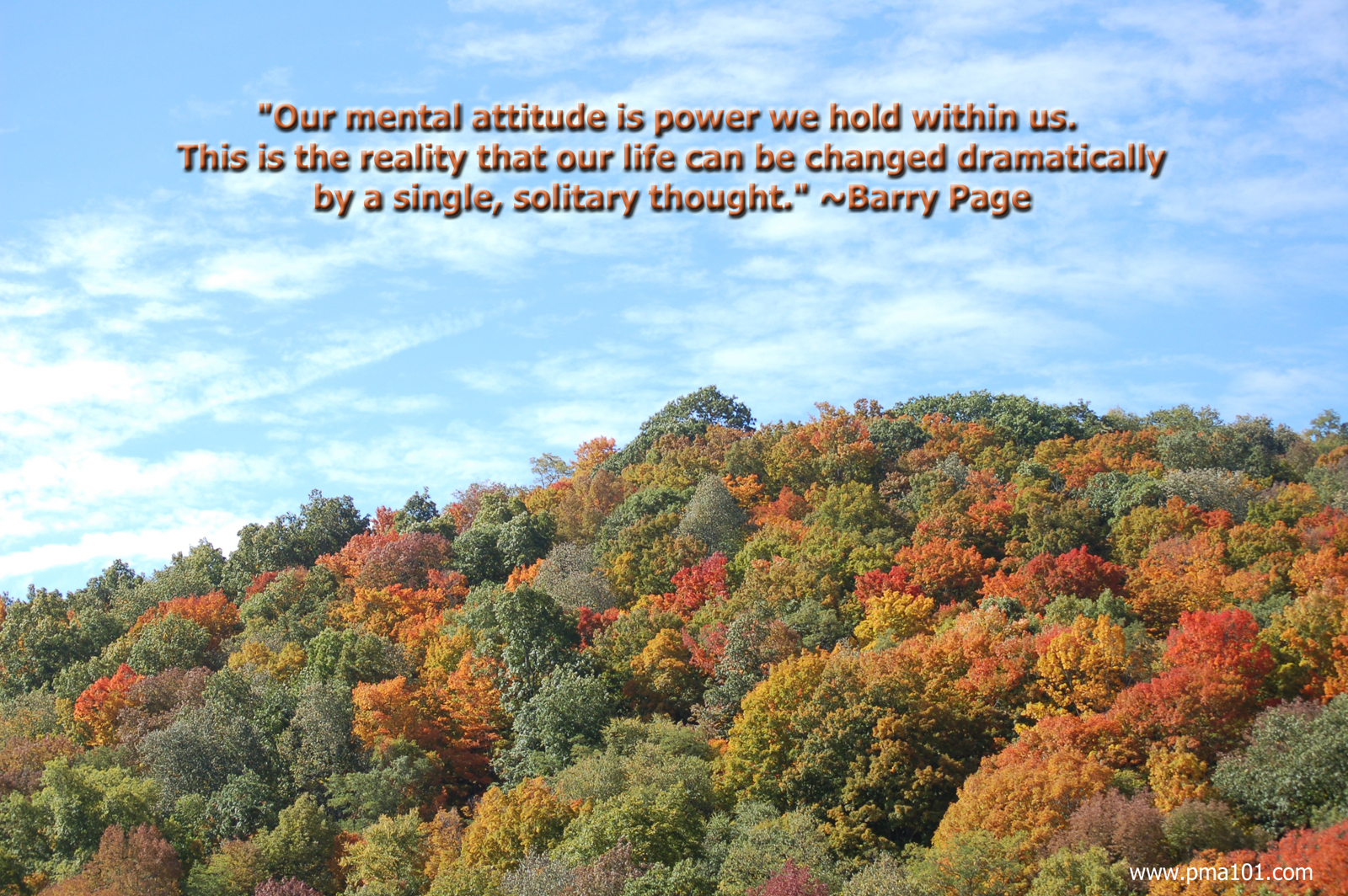 "attitude; pma; positive mental attitude; abundance; fall colors; blue sky; mountain view; ""snowshoe, wv"""